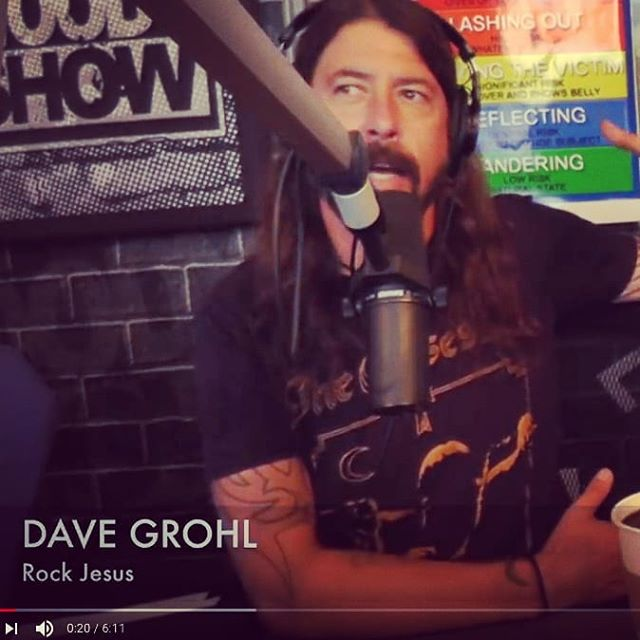 'Rock Jesus' - best interview name title ever... #rock #davegrohl #thewoodyshow #foofighters #radio #gigvr #gigvr.tv