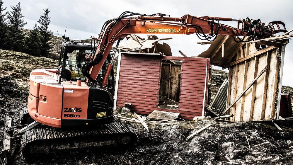 Eksisterende bygg måtte rives
