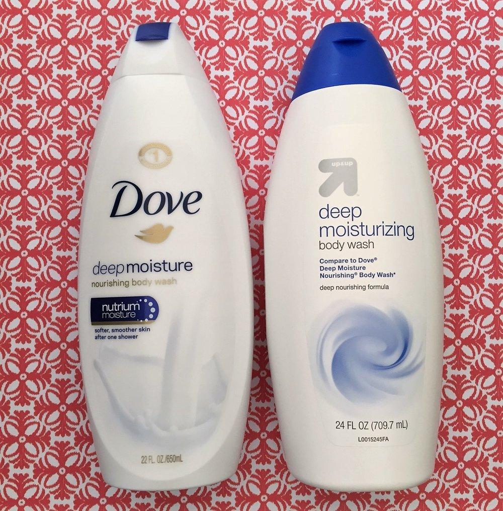 Up & Up Body Wash vs Dove Deep Moisture