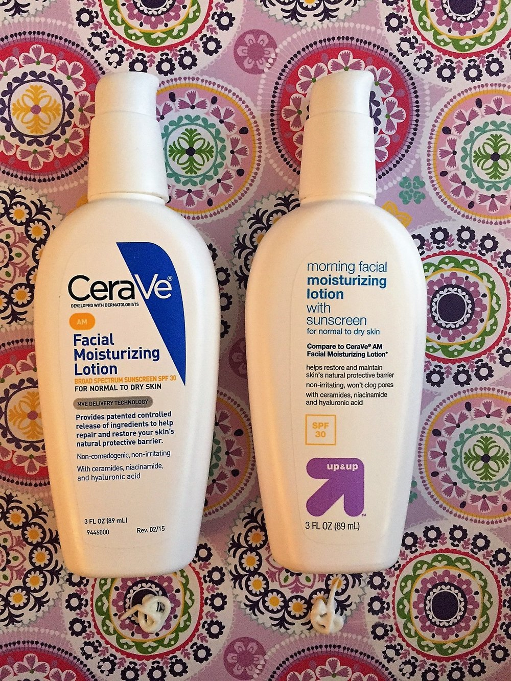 We recommend buying the store brand (up & up) version in this scenario - slight ingredient difference but we hypothesize it's a prior formulation of CeraVe. Note: the CVS & up & up store brand versions are the exact same as each other.