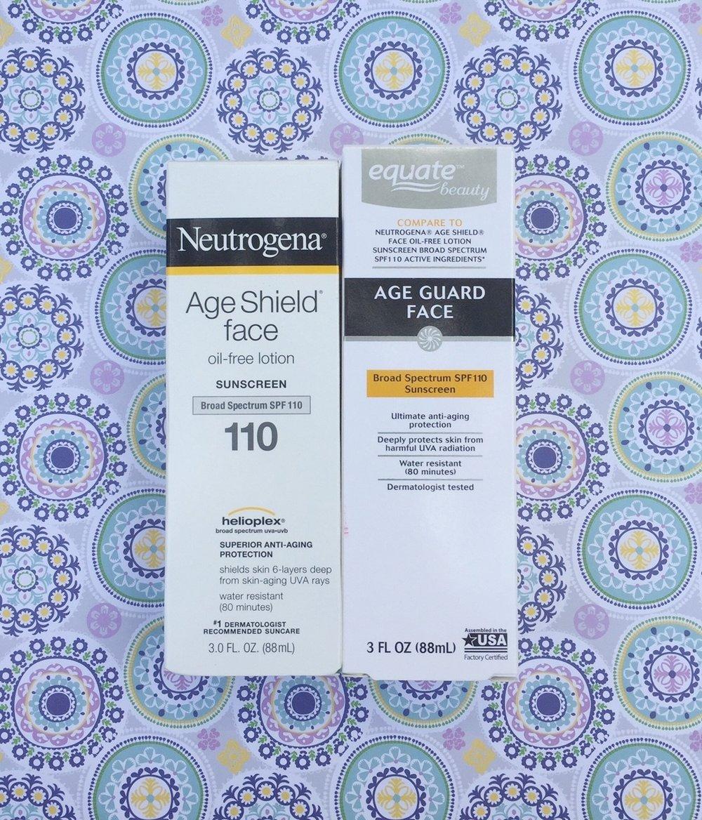 Neutrogena Age Shield vs. Equate Beauty Age Shield
