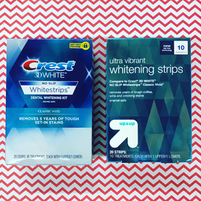 up&up whitening strips vs crest