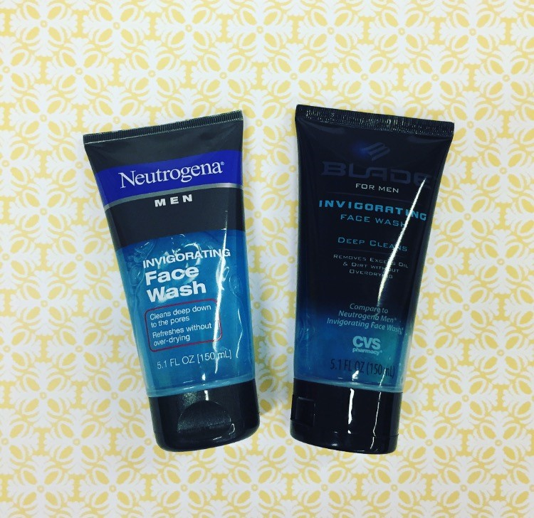 Neutrogena Men Invigorating Face Wash vs. Blade for Men by CVS