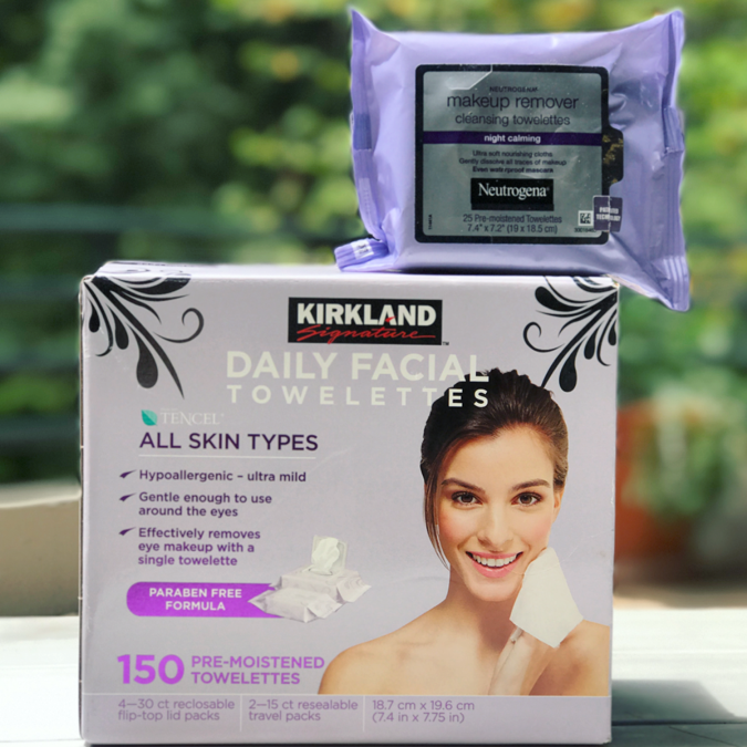 Kirkland Signature Facial Towelettes vs Neutrogena Makeup Remover Towelettes