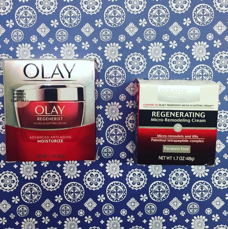 Olay Regenerist Micro-Sculpting Cream vs. Equate Regenerating Micro-Remodeling Cream