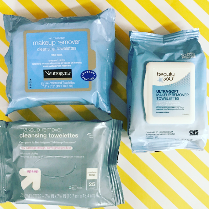 Neutrogena Makeup Remover Wipes vs. Target's up & up & CVS's Beauty 360