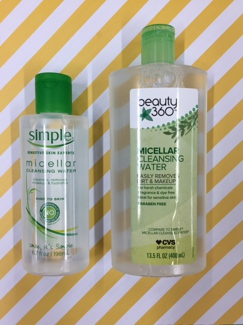 Simple Micellar Cleansing Water vs. Beauty 360 Micellar Cleansing Water