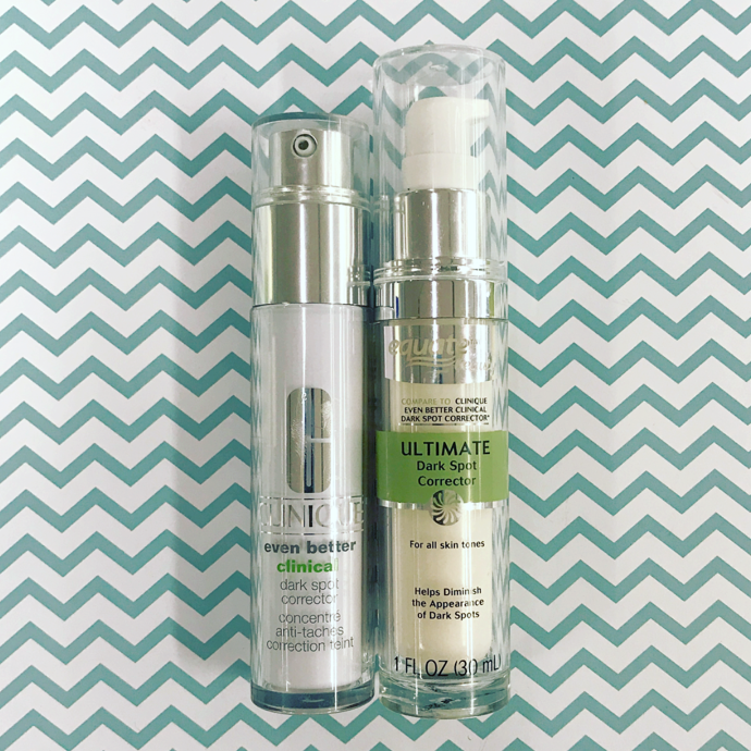 Clinique Dramatically Different Spot Corrector vs. Equate Beauty Ultimate Spot Corrector