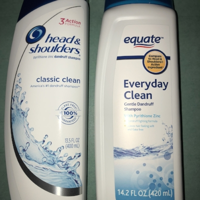 The Equate brand will save you some cash and keep your scalp looking clean!