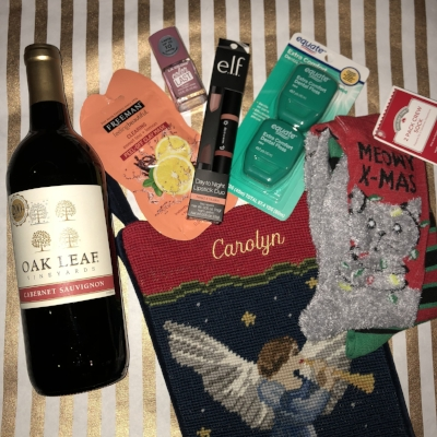 Wine, lipstick, and cat socks- oh my!