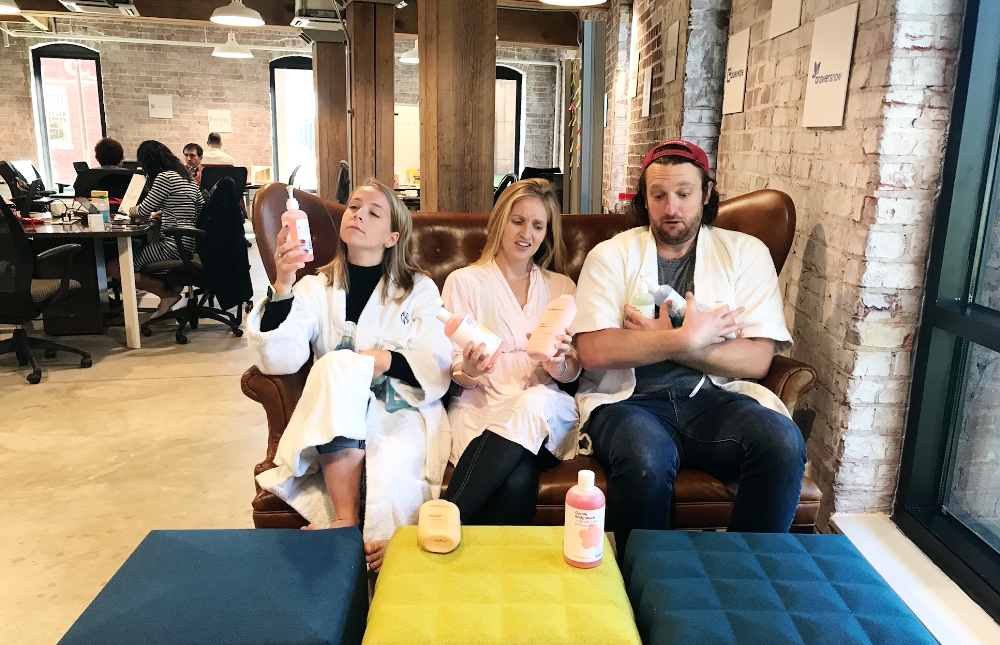 Per usual, hanging out in the office in our bathrobes, ready for your review requests!