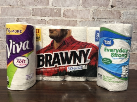 """The name brand towels are just a """"tear"""" above the competition."""