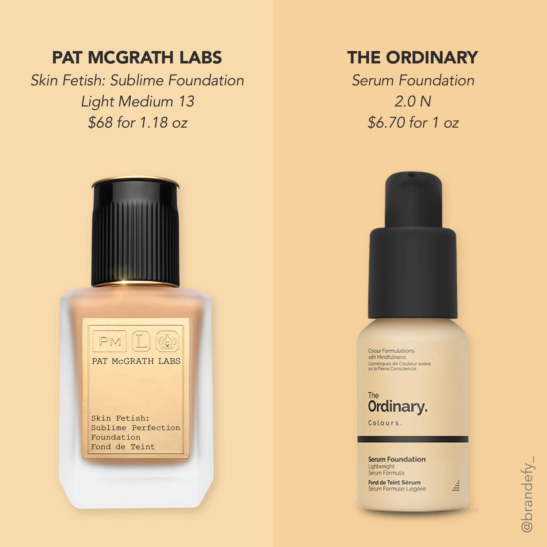 The Ordinary Serum Foundation Versus Pat Mcgrath Labs Brandefy