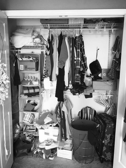 Child's Closet Before