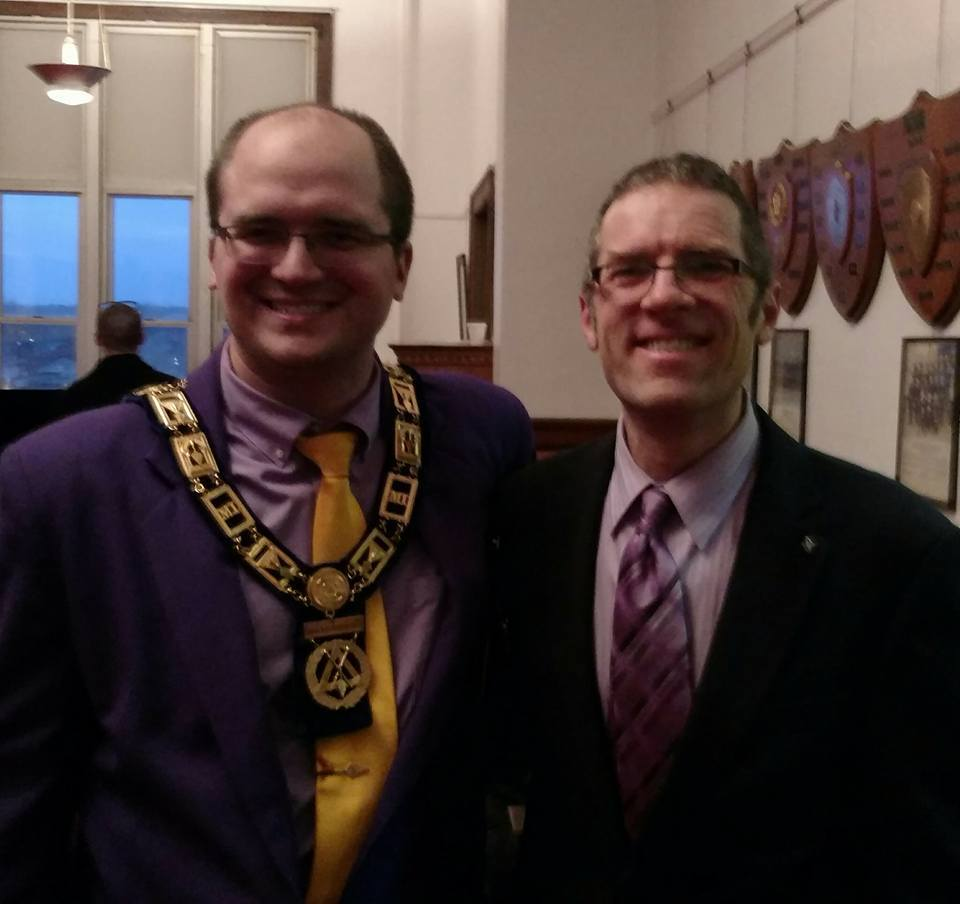 Ann Arbor Council 86 sends its congratulations to Companion Jason Bryce for being greeted as a Super Excellent Master! He's now a voting Royal and Select Mason. Our Thrice Illustrious Master, Corey Curtiss took part in the degree work and was on hand for this great event in Flint, MI.