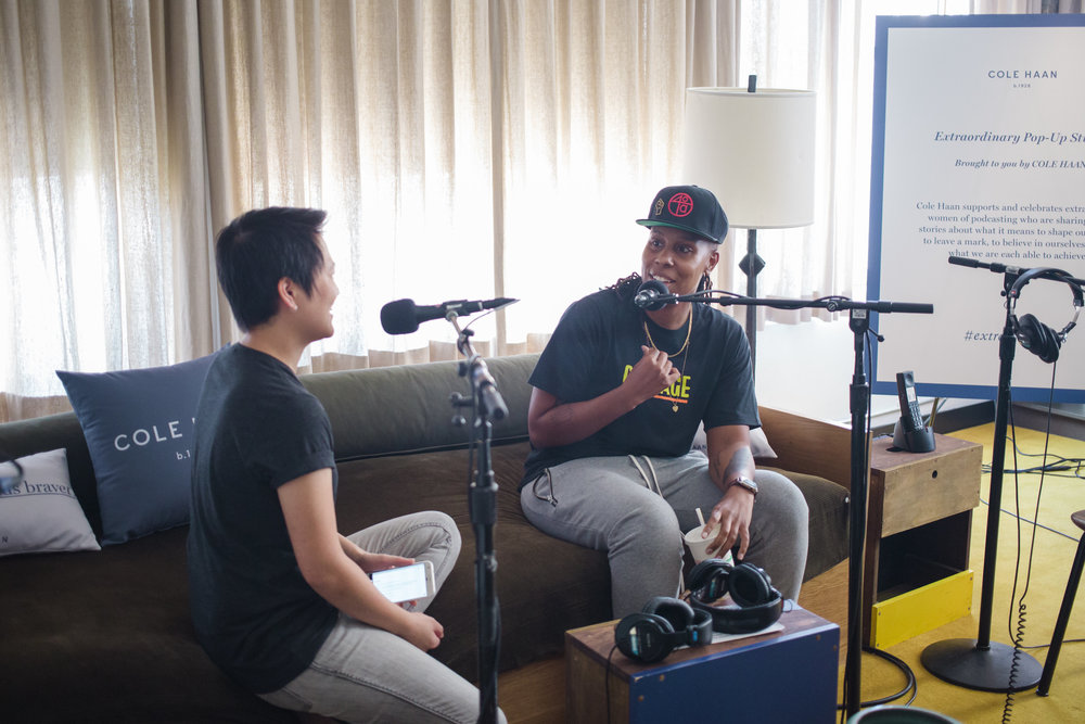 Kathy Tu interviewing Lena Waithe for the Nancy podcast