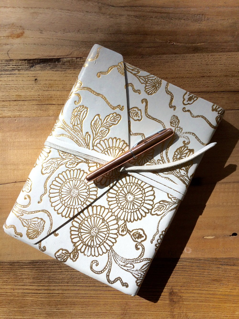 My travel journal. Purchased at Anthropologie.