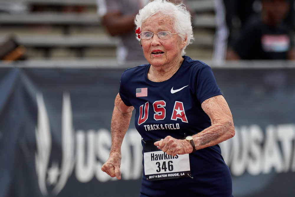 101 Year Old World Record Holder Julia Hawkins