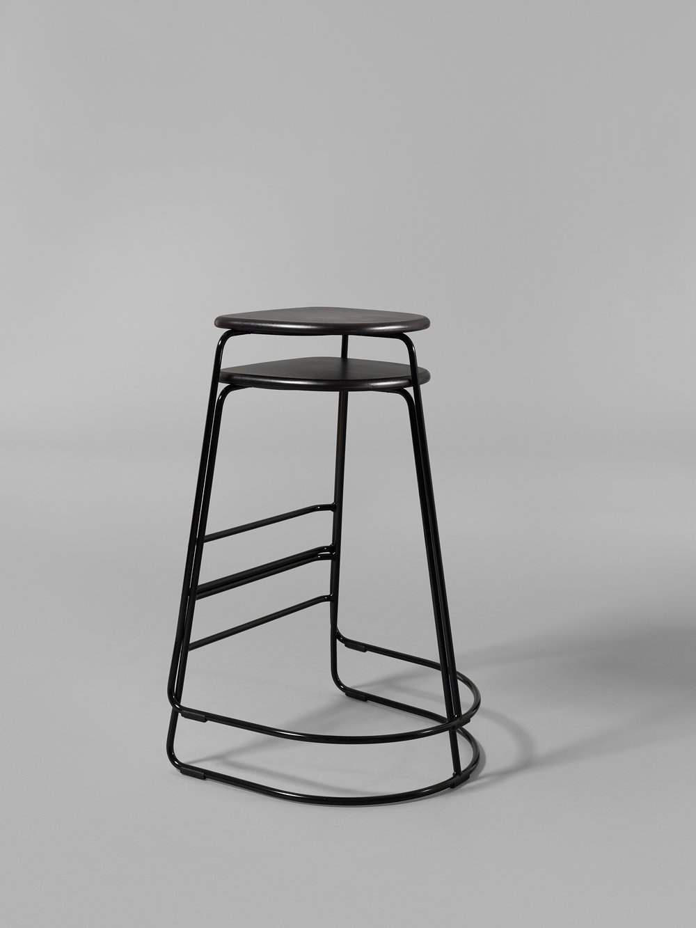 Citizen Ghost is a straight-forward, stackable stool with strong character. The look resembles that of a ghost, wandering the earth in search for souls to keep. Even though, or perhaps because of, its simplicity the stool has an unmistakeable look. The stack-ability makes is additionally usable in areas where seating spaces and room space takes turn. The seating comfort is high, combining the steel's lightness and strength with the solid wood's warmth and comfort.