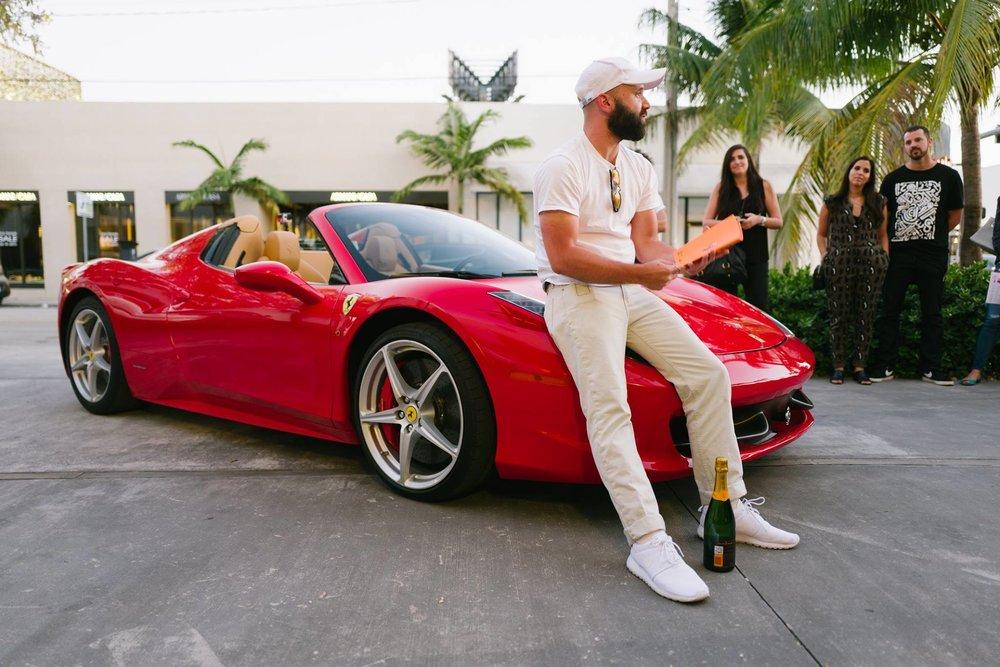 Ferrari 458 Spider with Nike Roshe 1 & Veuve Clicqout Brut - Primary Projects - Miami, FL. Photo -  Gesi Schilling