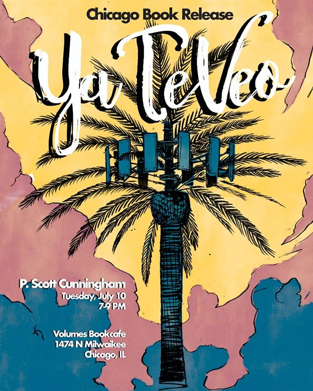 "Reading poems tonight at 7pm to celebrate @cunningpscott new book of poems ""Ya Te Veo"" with Kenyatta Rogers & Jacob Saenz. Would love to see you IRL."