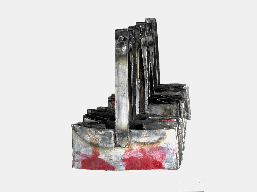 Cut Apple Bags / Painted Metal. 1997.