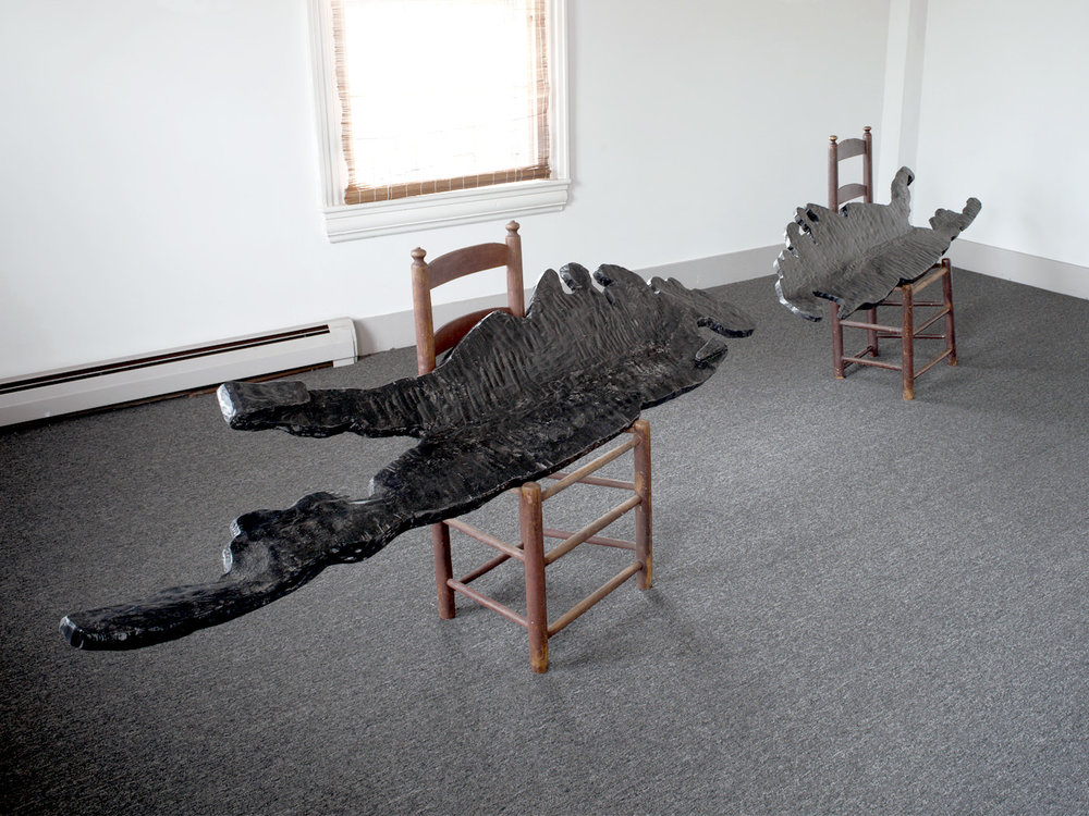 LIs / Carved & Painted Wood with Chairs. 2011.