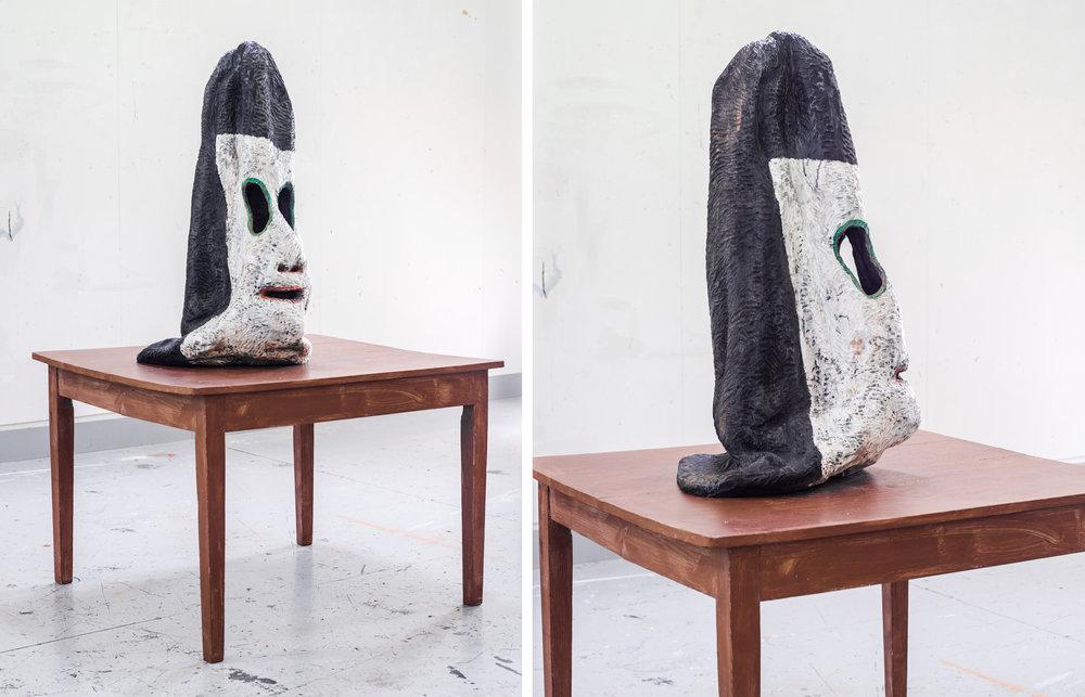 Slant Hat / Carved & Painted Wood. 2015.