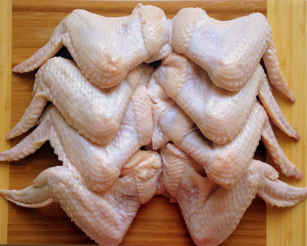 Pastured chicken parts from chickens fed certified organic, non-GMO, soy-free feed.