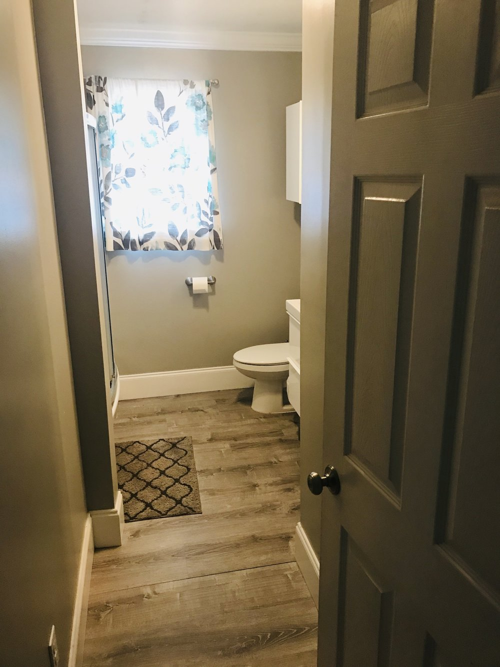 This is the hall bath that we recently updated.