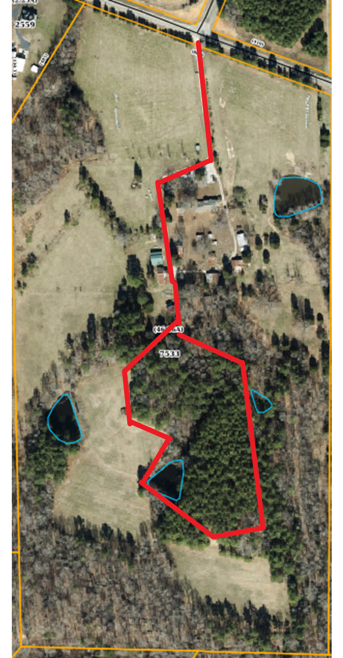 Video 4: We start by coming through the front gate as you would driving into the farm. We then wrap around to the right of the house, by some of the barns, and then we do the loop past the back pastures and through the middle section of 50 year old pines.
