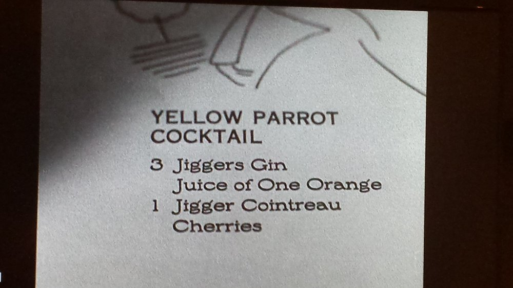 The Yellow Parrot Cocktail/She Wore Stars
