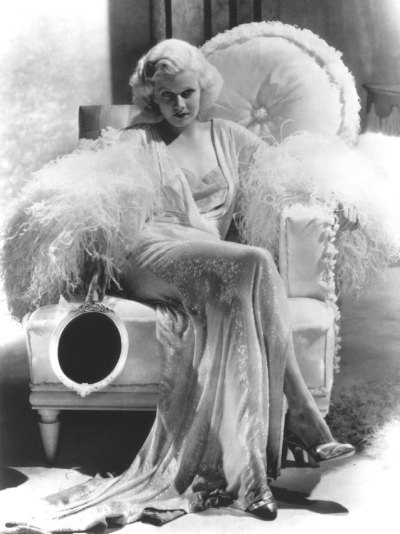 """Jean Harlow Photo Still from """"Dinner at 8"""" ... the gown she is wearing here is one of her most iconic."""