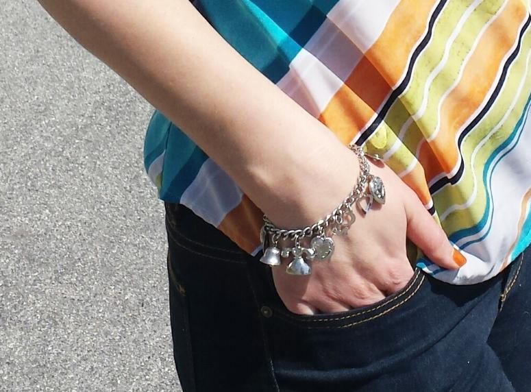 My favorite jingly charm bracelet.