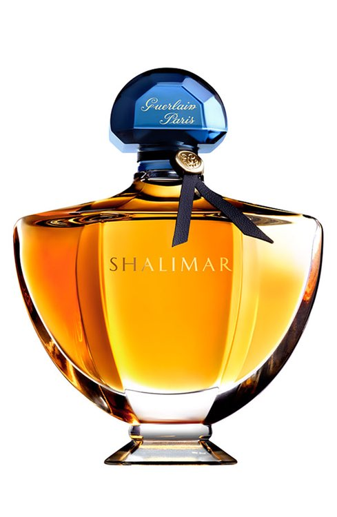 Perfume for a Holiday Party Pinup - Launched by the design house of Guerlain in 1925, Shalimar blends iris, rose and vanilla. Those who wear it call it classic, mysterious, and intriguing. One of the preferred fragrances of Rita Hayworth and others of the most iconic bombshells of all time, Shalimar goes against the current trends of