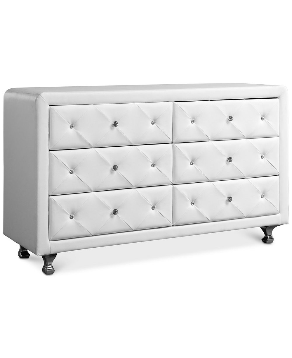 White Chest of Drawers - The last check Monroe purportedly wrote was for a white dresser, which makes sense, the woman loved the hue! I was unable to find photos of the dresser she ordered, probably because it was never delivered. But this one is beautiful and has a Marilyn feel to it.