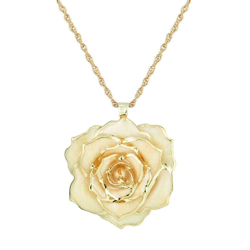 Kiss from a Rose - This delicate rose pendant looks exactly like something Grace Kelly would wear.