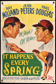 It Happens Every Spring - Another I haven't seen, but the premise is basically this: what can a mad-scientist to with his new discovery of wood-repellant baseballs?Click here to watch It Happens Every Spring
