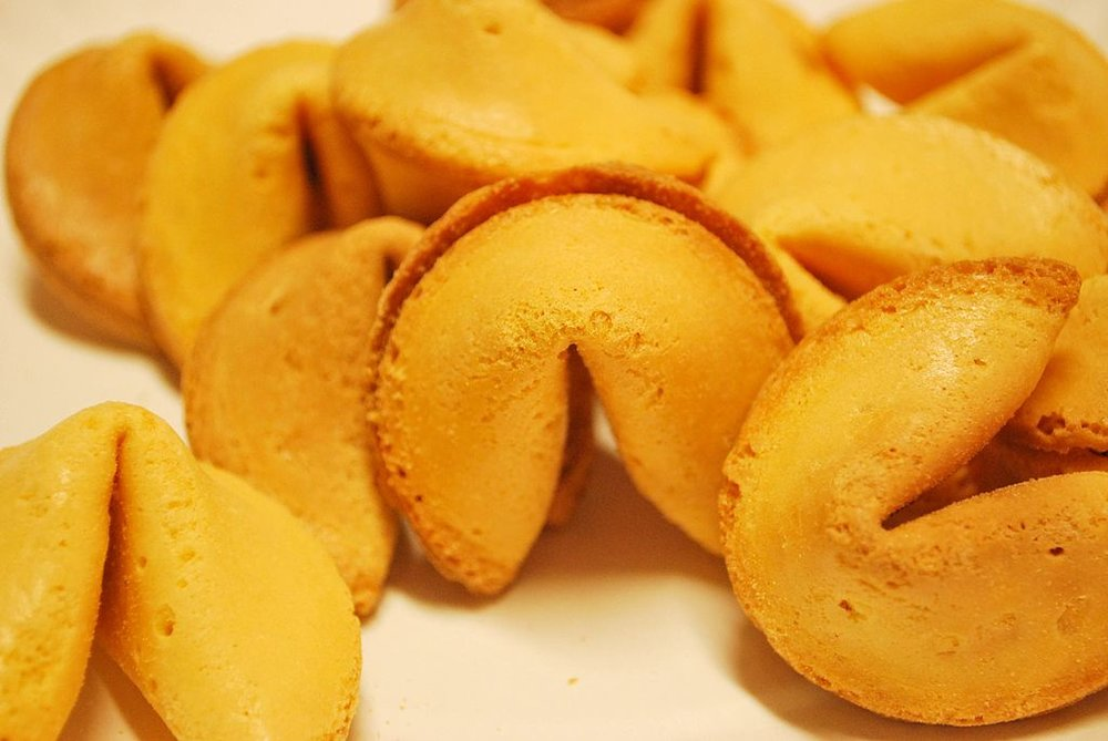 FORTUNE COOKIES - She would go out to chop suey and ask for additional fortune cookies, reading each one out loud, commenting on them, even keeping them in her bag.