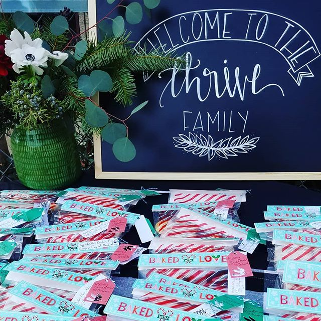 Sugar cookies for the win! Beautiful Christmas service this morning.  @thrivelosangeles @lacedlettering