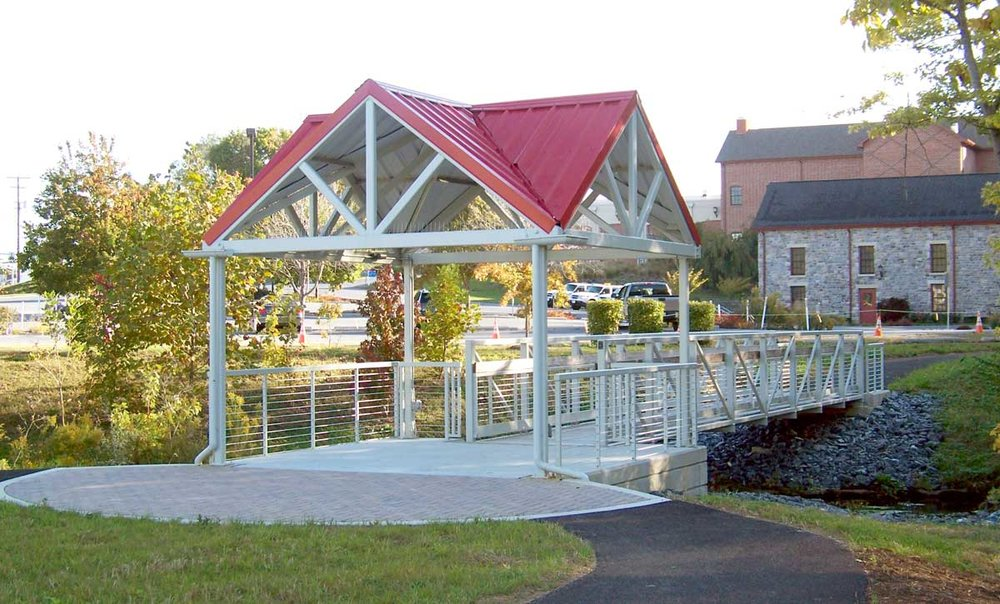 Pedestrian Bridge & Pavilion, Lower Allen Twp. Municipal Building