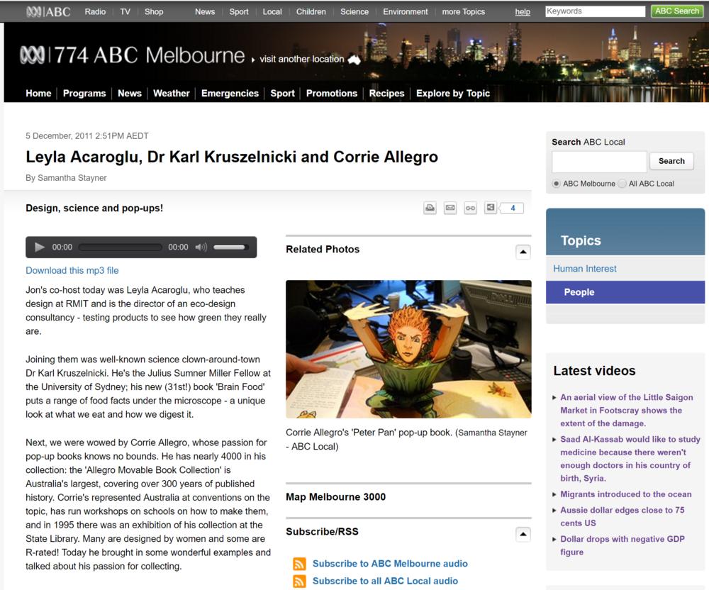 ABC Melbourne Radio Interview