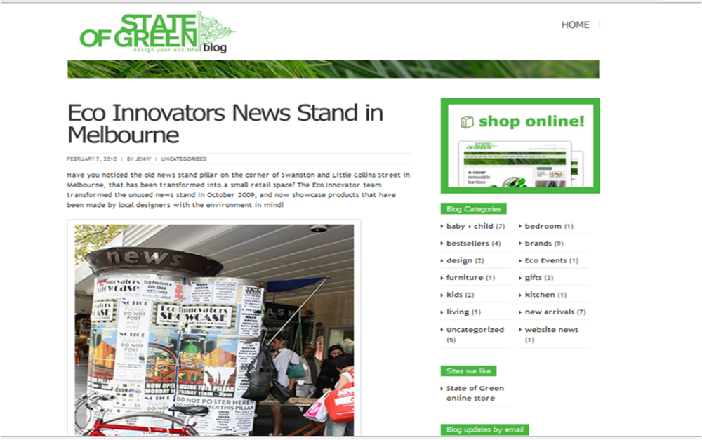 State of Green Blog