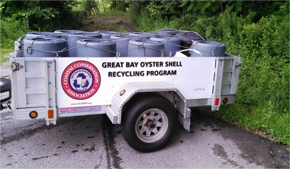 The Oyster Shell Recycling trailer.