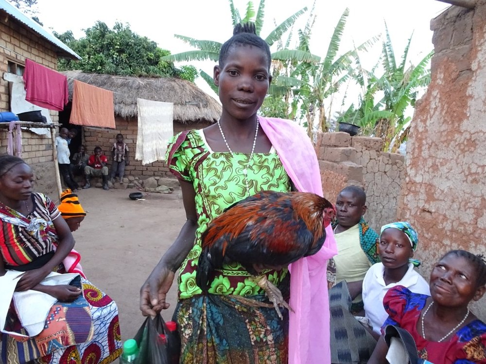 Ntemba Village Women's Chicken Cooperative group.