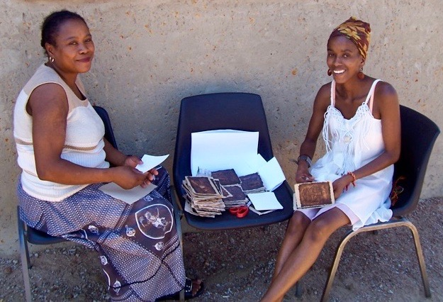 Vendors sell cards from the Sisonke AIDS support group.
