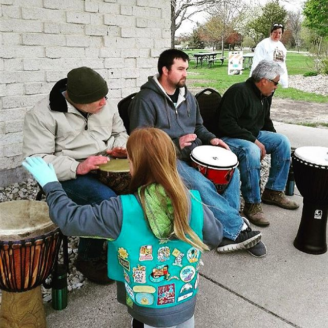Drummers get some friendly help at Aid Africa's Children's 9th Annual Walk/Run.  #charity #Water4Africa #aidafrica #walkrun