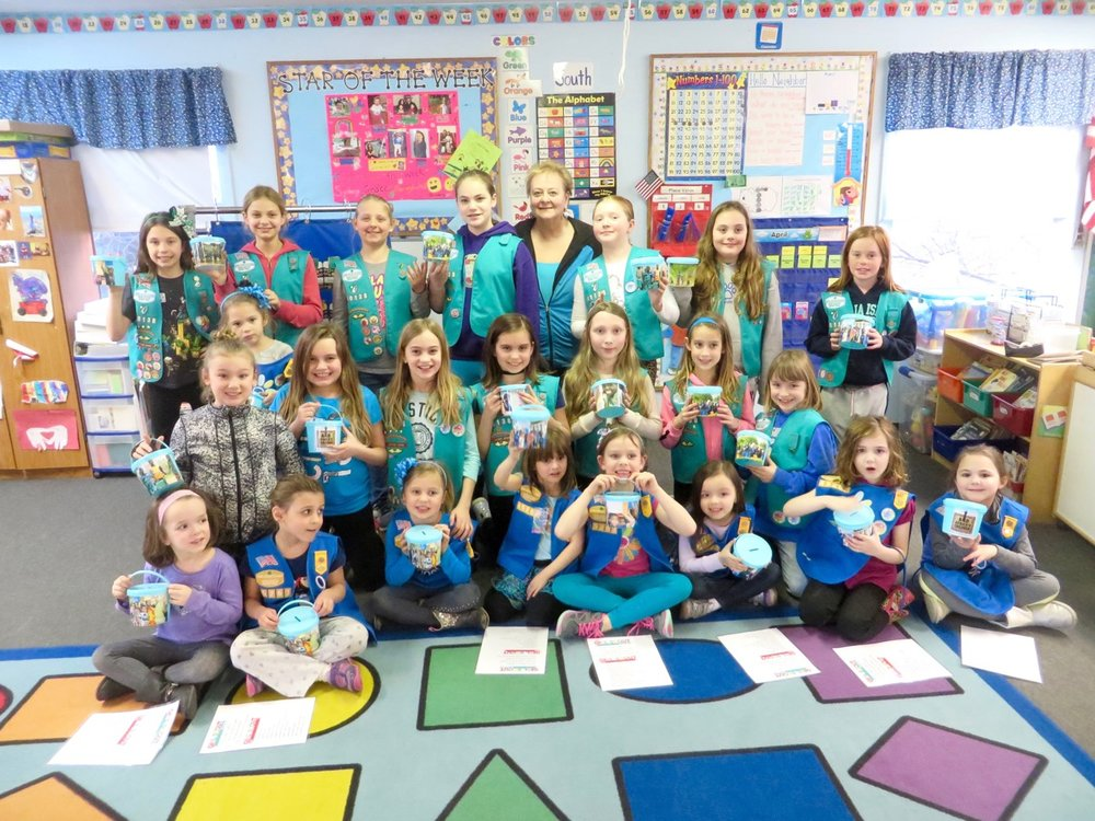 Debbie Gilliam rallies Girl Scout troops at B.J. Hooper Elementary School