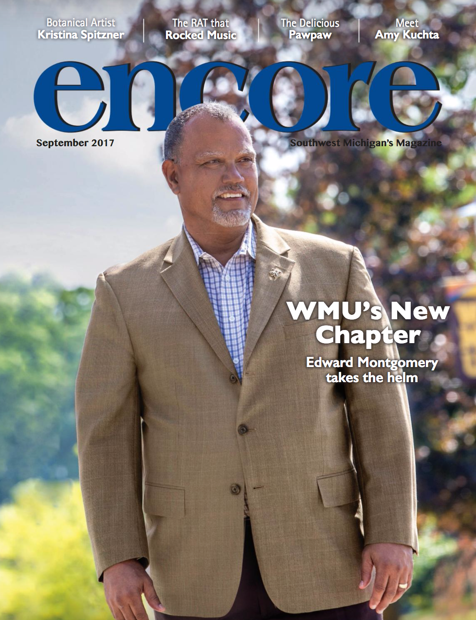 This Month's full issue of ENCORE Magazine features an interview with WMU's new leader Edward Montgomery.