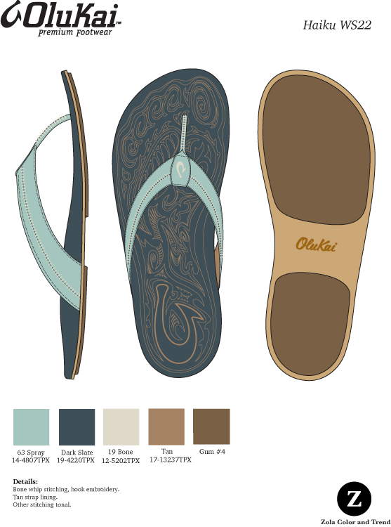 Olukai  Leather sandal women's color option.